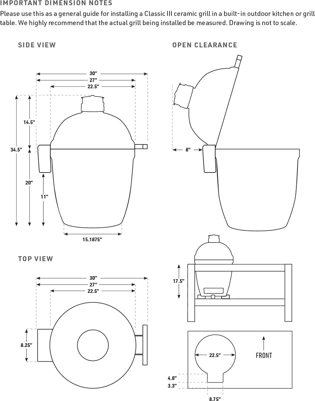 Kamado Joe Classic III Specifications