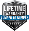 Lifetime Bumper to Bumper Warranty
