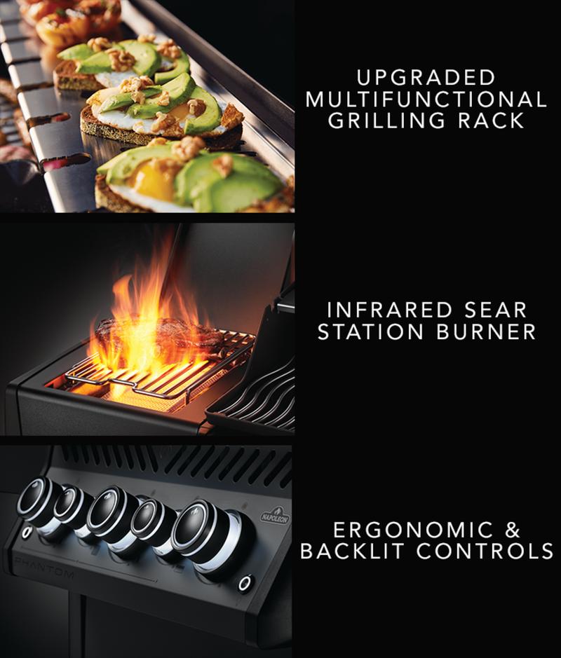 Upgraded Multifunctional Grilling Rack - Infrared Sear Station Burner - Ergonomic & Backlit Controls