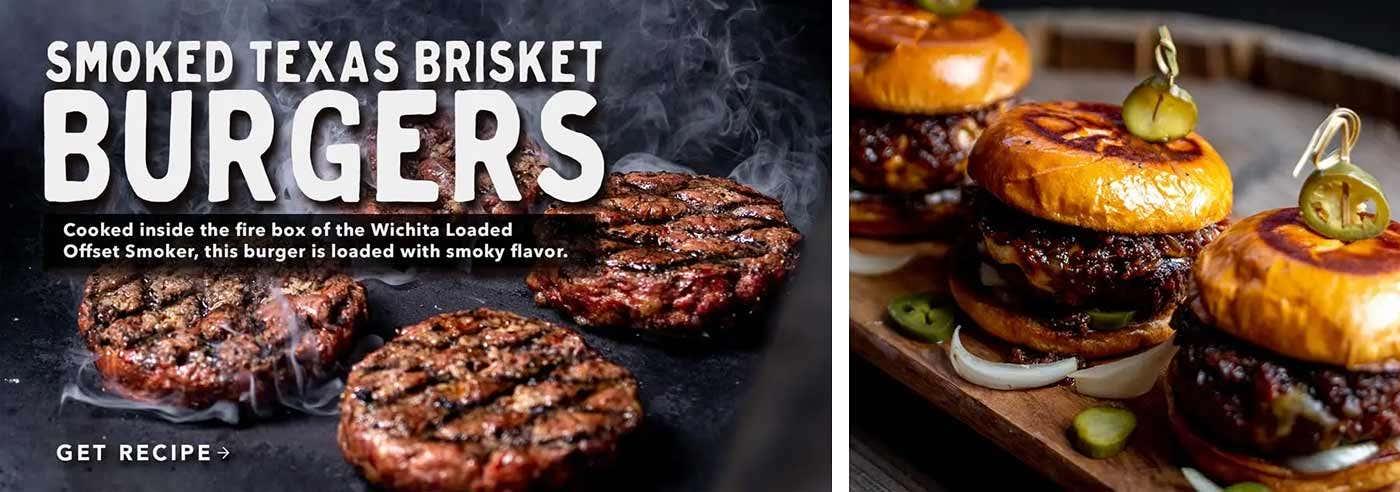 Smoked Texas Brisket Burgers