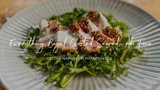 Everything Bagel Crusted Seared Ahi Tuna
