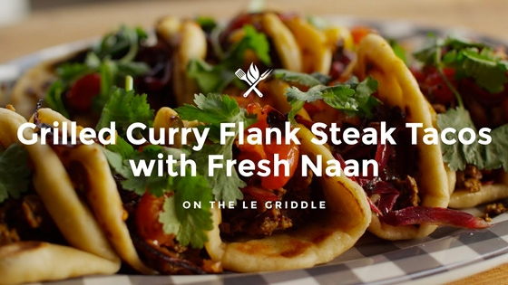 How to Make Grilled Curry Flank Steak Tacos with Fresh Naan
