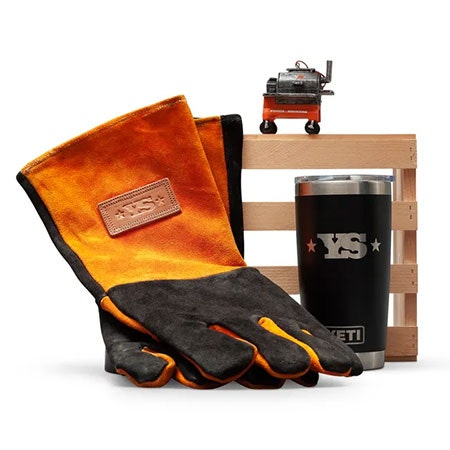 All Things Barbecue Yoder Smokers Gloves Gift Crate