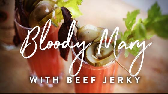 Bloody Mary with Smoked Beef Jerky