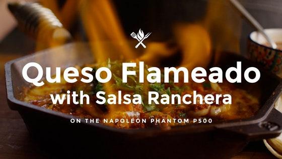 Queso Fundido/Queso Flameado with Salsa Ranchera