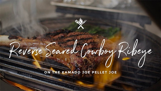 Reverse Seared Cowboy Ribeye on the Kamado Joe Pellet Joe