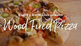 Ribeye and White Bean Hummus Pizza