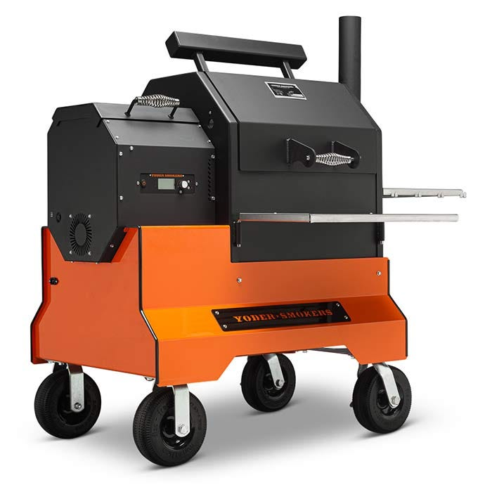 Yoder Smokers YS480s Pellet Grill on Competition Cart